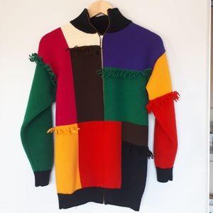 Simon Chang Color Block Cardigan - S
